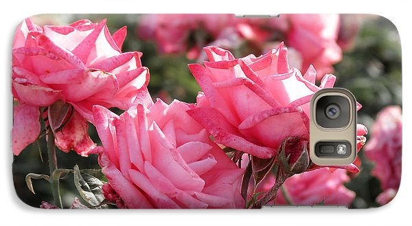 Galaxy Case featuring the photograph A Bunch Of Pink by Laurel Powell