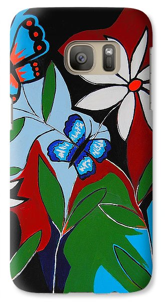 Galaxy Case featuring the painting A Butterflies Paradise by Kathleen Sartoris