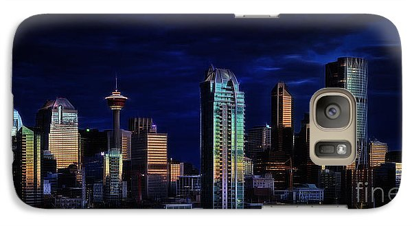 Galaxy Case featuring the photograph A Calgary Sunrise by Brad Allen Fine Art