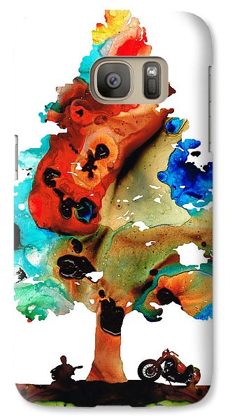 A Certain Kind Of Freedom - Guitar Motorcycle Art Print Galaxy S7 Case