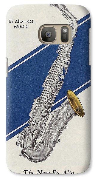 A Charles Gerard Conn Eb Alto Saxophone Galaxy S7 Case by American School