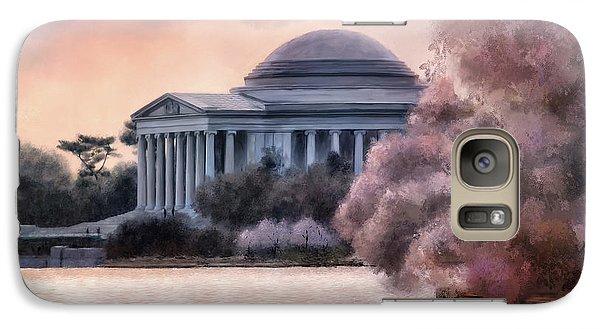 Galaxy Case featuring the digital art A Cherry Blossom Dawn by Lois Bryan