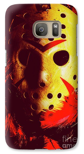 Hockey Galaxy S7 Case - A Cinematic Nightmare by Jorgo Photography - Wall Art Gallery