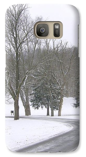 Galaxy Case featuring the photograph A Cold Winter's Day by Skyler Tipton