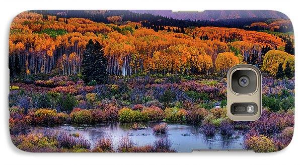Galaxy Case featuring the photograph A Colorado Fall Along Kebler Pass by John De Bord