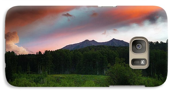 Galaxy Case featuring the photograph A Colorado Mountain Sunset by John De Bord