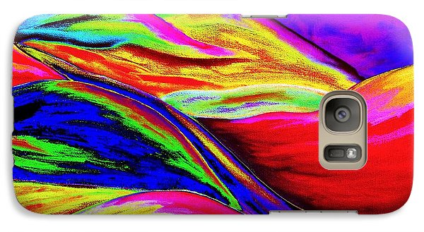 Galaxy Case featuring the painting A Colorful World by Annie Zeno