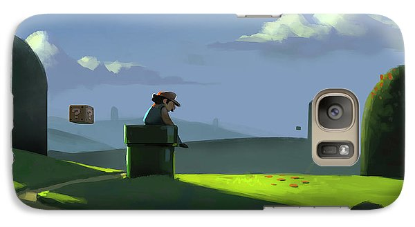 Galaxy Case featuring the painting A Contemplative Plumber by Michael Myers