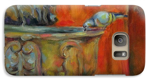 Galaxy Case featuring the painting A Cool Drink by Chris Brandley