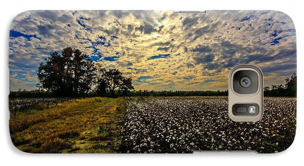 Galaxy Case featuring the photograph A Cotton Field In November by John Harding