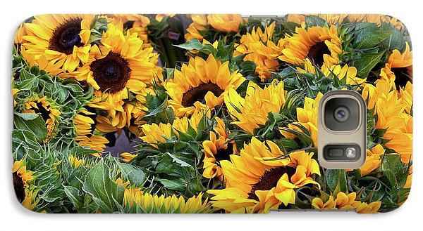 Galaxy Case featuring the photograph A Crowd Of Sunflowers by Susan Cole Kelly