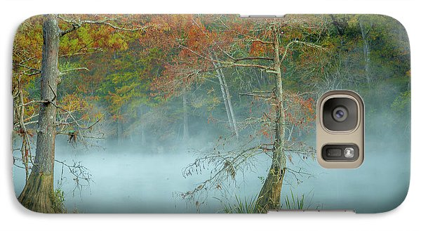 Galaxy Case featuring the photograph A Dancing Cypress by Iris Greenwell