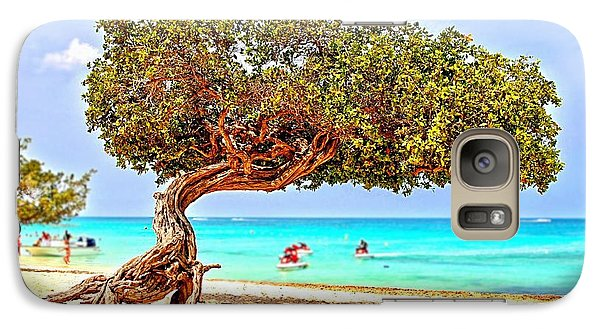 Galaxy Case featuring the photograph A Day At Eagle Beach by DJ Florek