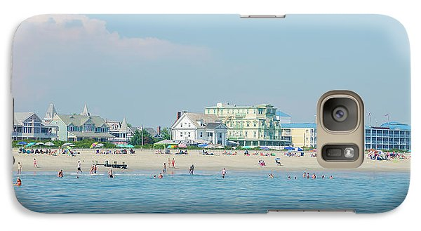 Galaxy Case featuring the photograph A Day At The Beach - Cape May New Jesey by Bill Cannon