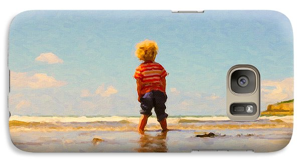 Galaxy Case featuring the painting A Day At The Beach by Chris Armytage