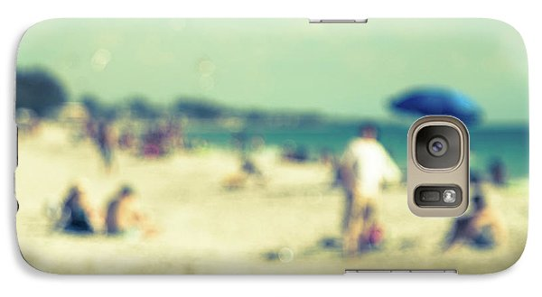 Galaxy Case featuring the photograph a day at the beach I by Hannes Cmarits