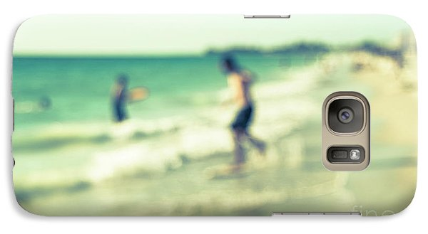 Galaxy Case featuring the photograph a day at the beach III by Hannes Cmarits