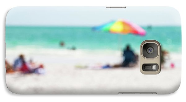 Galaxy Case featuring the photograph a day at the beach IV by Hannes Cmarits