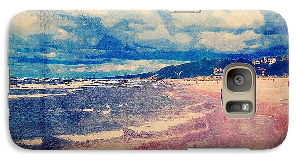 Galaxy Case featuring the photograph A Day At The Beach by Phil Perkins