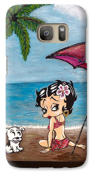A Day At The Beach Galaxy S7 Case by Teresa Wing