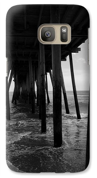 Galaxy Case featuring the pyrography A Day At Virginia Beach #2 by Rebecca Davis