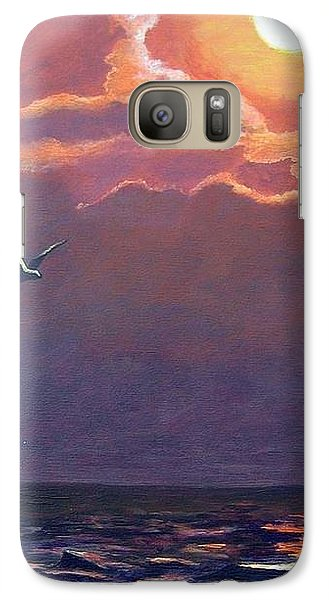 Galaxy Case featuring the painting A Day In Galveston by Suzanne Theis