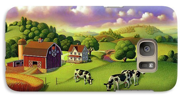 Galaxy Case featuring the painting A Day On The Farm  by Robin Moline