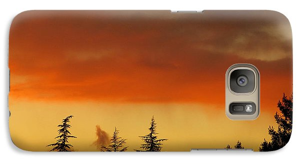 Galaxy Case featuring the photograph A Distant Rain by CML Brown