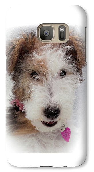 Galaxy Case featuring the photograph A Dog Named Butterfly by Karen Wiles