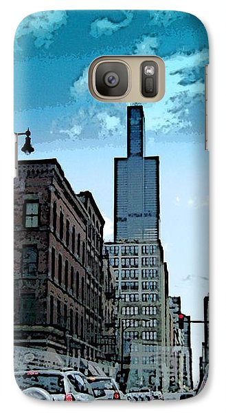 Galaxy Case featuring the photograph A Drive Through Downtown Chicago by Skyler Tipton