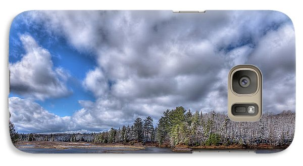 Galaxy Case featuring the photograph A Dusting Of Snow by David Patterson