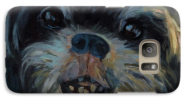 Galaxy Case featuring the painting A Face Only A Mother Could Love by Billie Colson