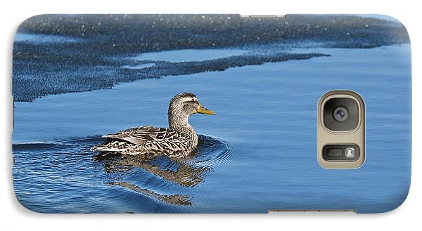 Galaxy Case featuring the photograph A Female Mallard In Thunder Bay by Michael Peychich