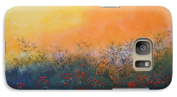 Galaxy Case featuring the painting A Field In Bloom by Dan Whittemore