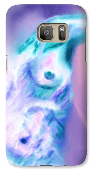 Galaxy Case featuring the painting A Foggy Night by Shelley Bain