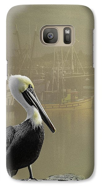 Galaxy Case featuring the photograph A Foggy Pelican Sunset by Diane Schuster