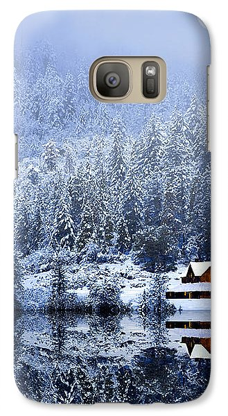 Galaxy Case featuring the photograph A Foggy Winter Night by Diane Schuster