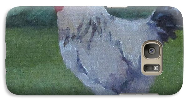 Galaxy Case featuring the painting A French Rooster by Jennifer Boswell