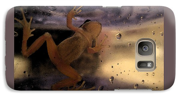 Galaxy Case featuring the digital art A Frogs World by Holly Ethan
