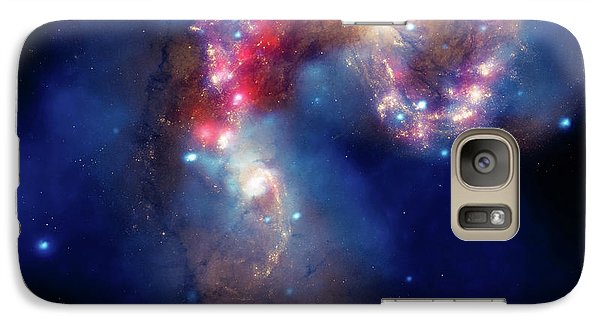 Galaxy Case featuring the photograph A Galactic Spectacle by Marco Oliveira
