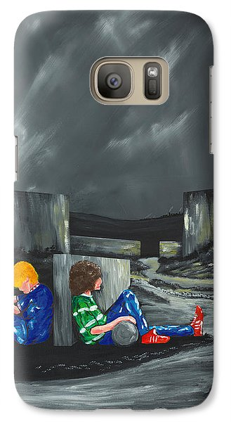 Galaxy Case featuring the painting A Game Of Two Divides by Scott Wilmot
