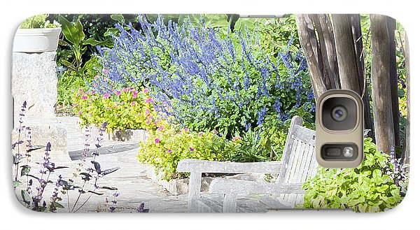 Galaxy Case featuring the photograph A Garden Seat by Ken Frischkorn