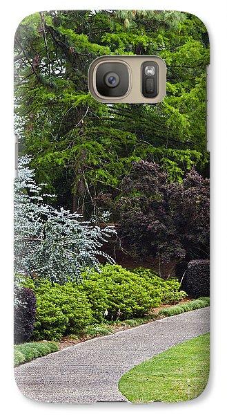 Galaxy Case featuring the photograph A Garden Walk by Ken Frischkorn