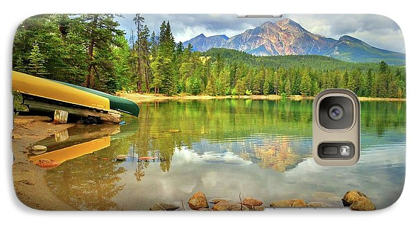 Galaxy Case featuring the photograph A Gentle Light At Lake Annette by Tara Turner