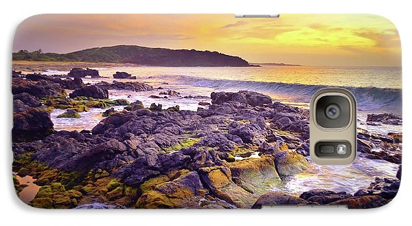 Galaxy Case featuring the photograph A Gentle Wave At Sunset by Tara Turner
