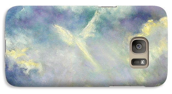 Galaxy Case featuring the painting A Gift From Heaven by Marina Petro