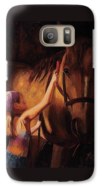 A Girls First Love Galaxy S7 Case by Billie Colson