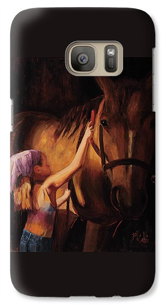 Horse Galaxy S7 Case - A Girls First Love by Billie Colson