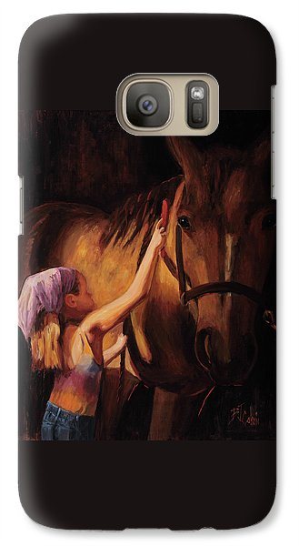 Animal Galaxy S7 Case - A Girls First Love by Billie Colson