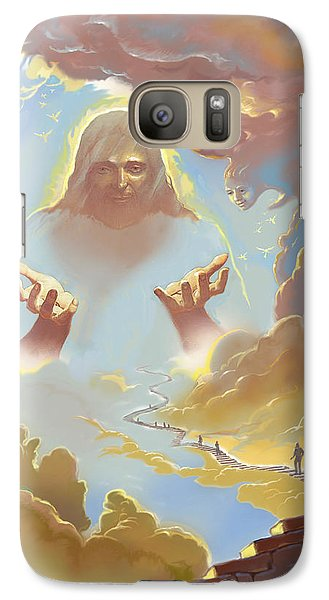 Galaxy Case featuring the digital art A Glimpse Into Heaven by John Norman Stewart